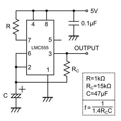 50%duty 1Hz Oscillator