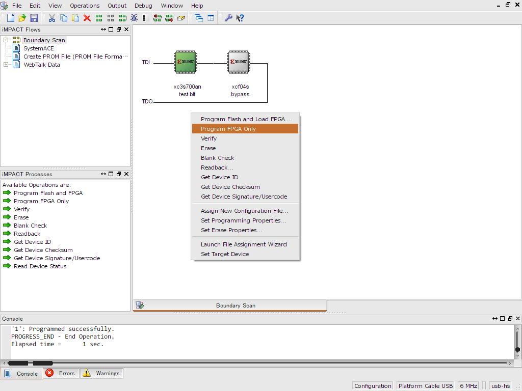 Program FPGA