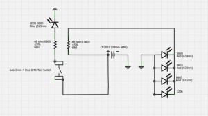 LED極性チェッカー 回路図