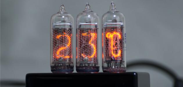 ニキシー管温湿度計