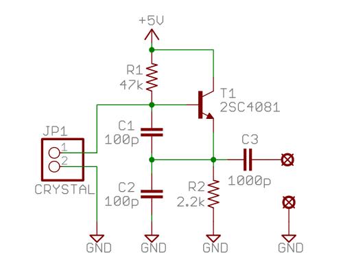 水晶 コルピッツ発振回路