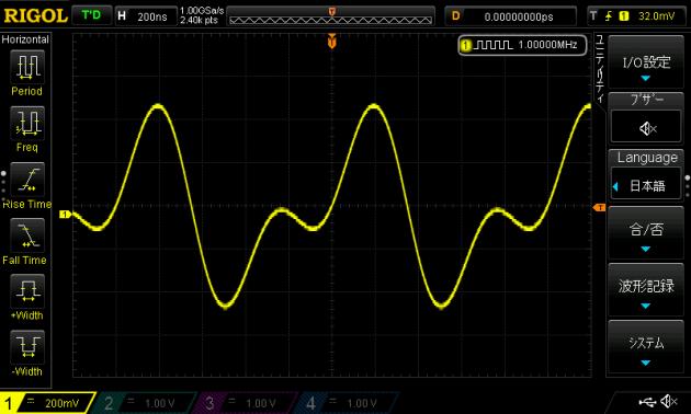 差動アンプの出力波形