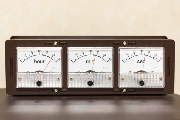 アナログメータ時計
