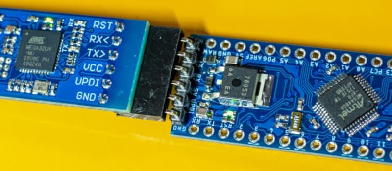 ATmega4809ボードとUPDIプログラマをつくりました