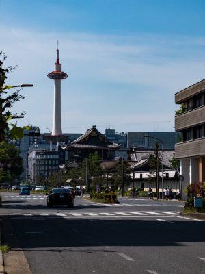 京都タワーが見える距離