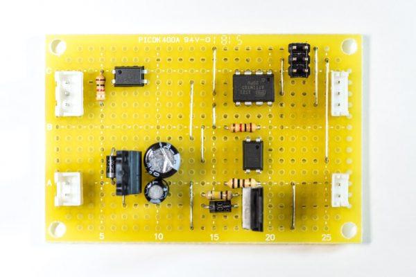 ユニバーサル基板で実装した制御回路