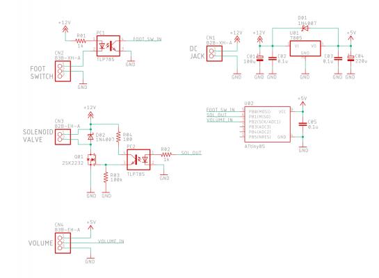 エアディスペンサ 電気回路図