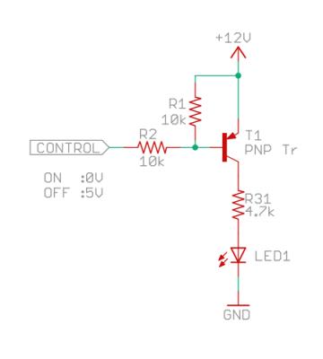 PNPトランジスタの駆動回路?