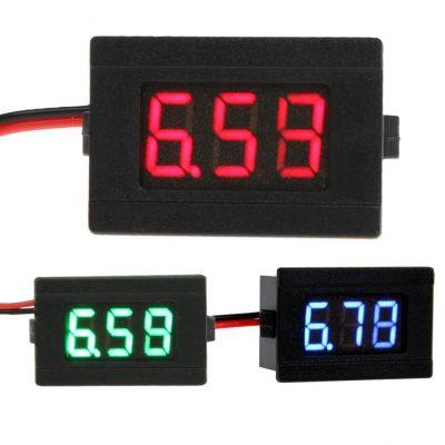 小さいパネルマウント電圧計 (1)
